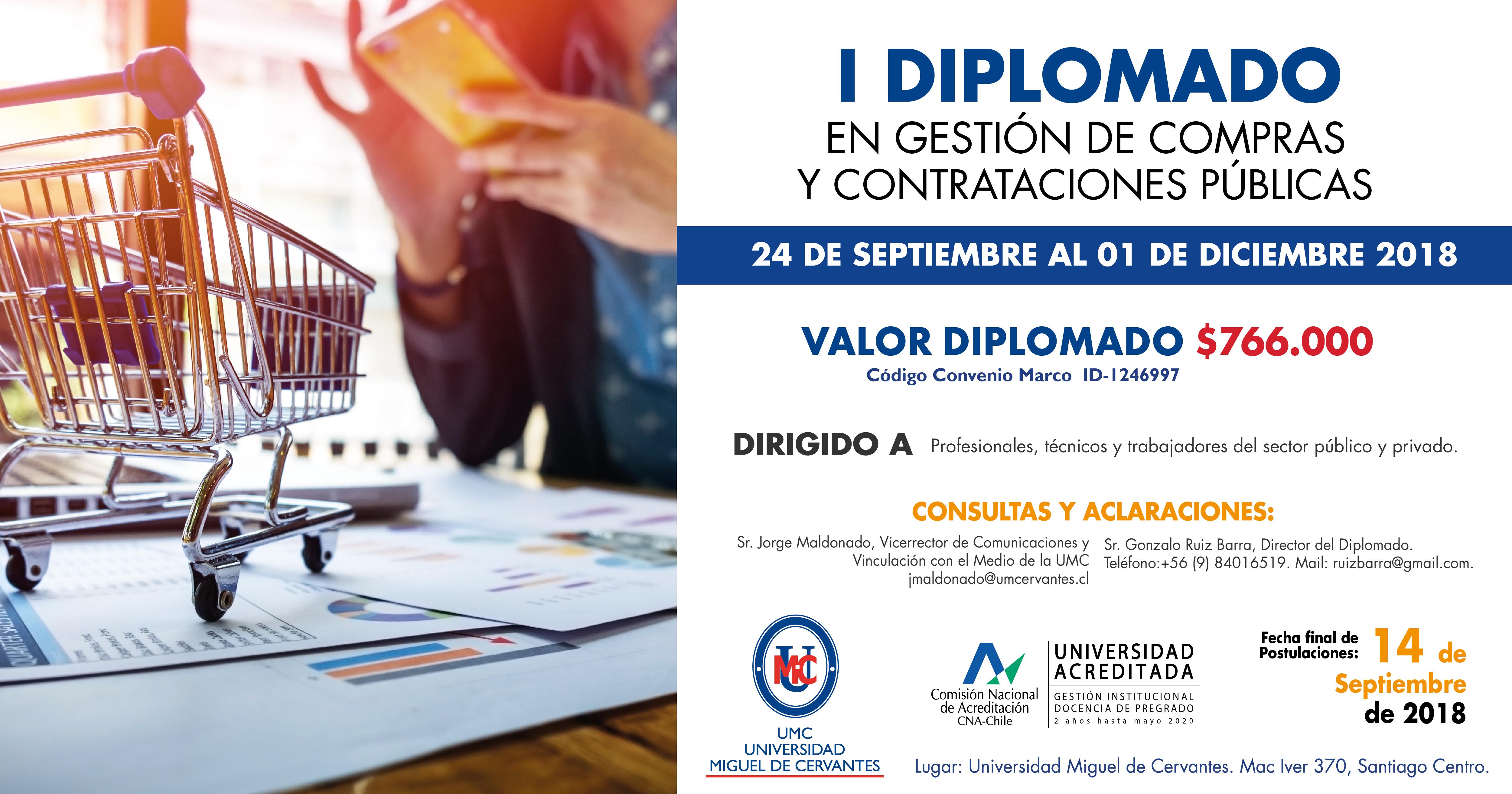 Diplomado en Gestión de Compras y Contrataciones Públicas