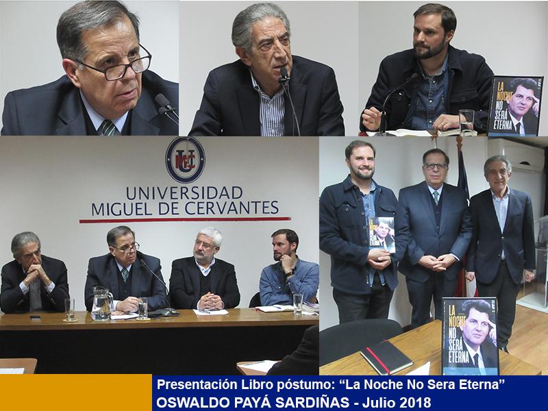 """""""La Noche No Será Eterna"""", Libro de Oswaldo Payá Sardiñas Presentado en la Universidad Miguel de Cervantes."""