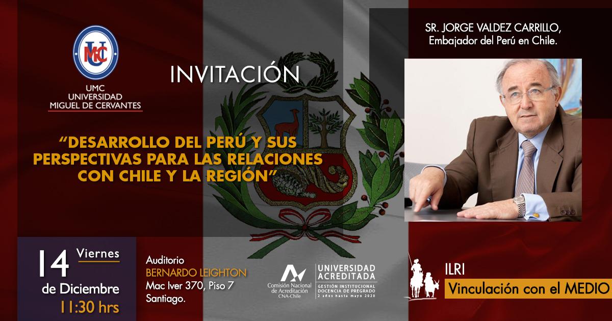 Embajador de Perú Visita la Universidad Miguel de Cervantes