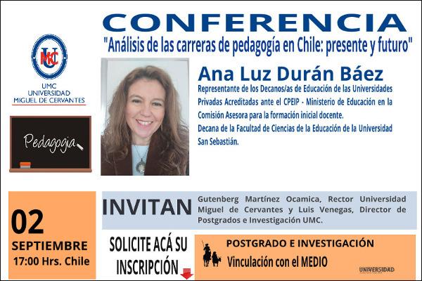 Conferencia Análisis de las carreras de pedagogía